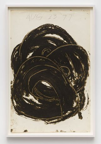 Guy Goodwin, Untitled (Aug 23, '77), 1977, Oil stick on paper, 40 1/4 x 29 inches