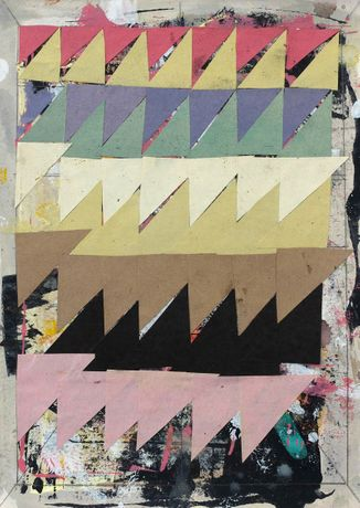 Terry Greene, Untitled (2012), collage and acrylic on paper, 21.2 x 29.8 cm