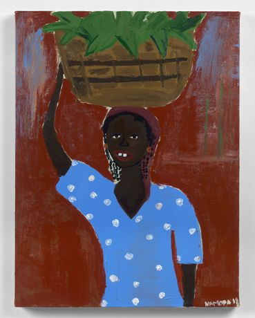 Cassi Namoda, Smiling Woman in Angoche, 2019, acrylic on canvas 61 x 45.7 cm, 24 x 18 in
