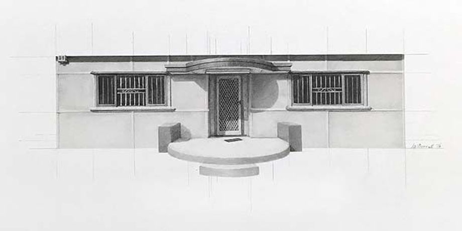 Catherine O'Donnell, 'Urban dwellings series 10 2016, pencil on paper, 25 x 56cm