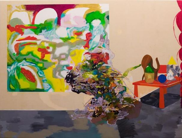 Alejandra Seeber Mental Walk: Designers, 2011 Oil on canvas 77 x 101 inches