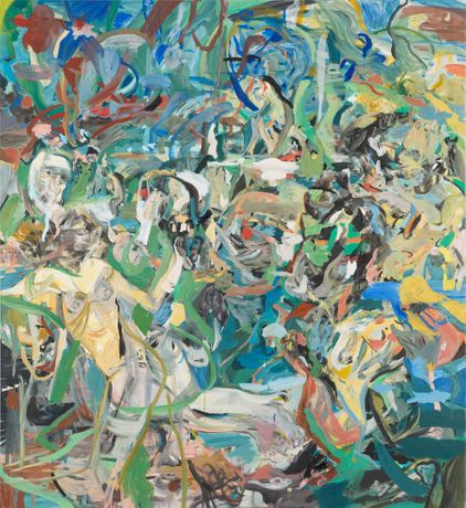 CECILY BROWN The Girl and Goat, 2013–14 Oil on linen 97 x 89 inches (246.4 x 226.1 cm)