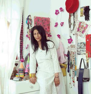 Chila Kumari Burman in her studio