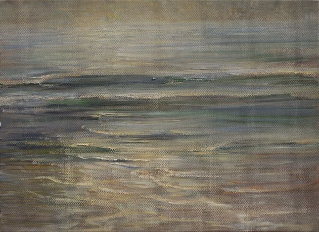 Last Light on the Sea, 2016 Oil on canvas 41 x 56.2 x 3.6 cm 16 1/8 x 22 1/8 x 1 3/8 in (CP178)