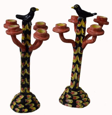 Blackbird candlesticks