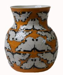 Clouded border moth vase