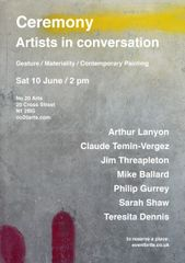 Ceremony: Artists in Conversation @ No20