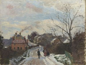 Image above: Detail from Camille Pissarro, Fox Hill, Upper Norwood, 1870. © The National Gallery, London. Acquisition Credit.