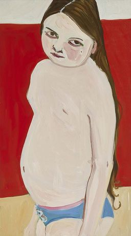 Bella on Red, 2016, oil on canvas, 48 3/8 x 27 1/8 in, 122.9 x 68.9 cm