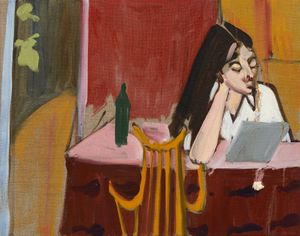 Esme at the Kitchen Table, Chantal Joffe, 2019