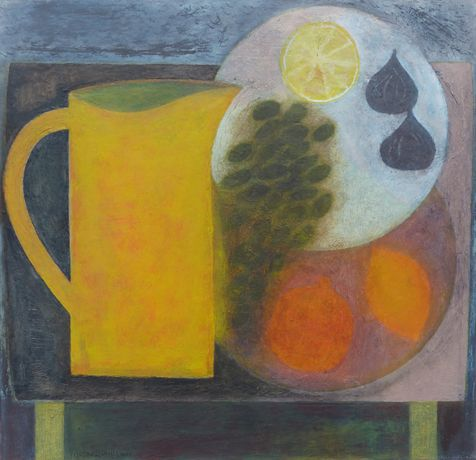 Yellow Jug with Fruit