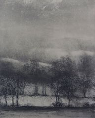 Norman Ackroyd, 'Winter Evening, Windermere', etching, 2008