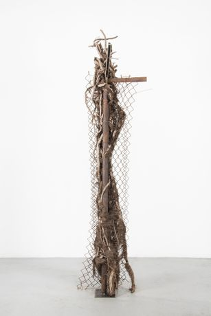 Charles Harlan  Tree, 2015  Wood, steel  274.3 x 68.6 x 81.3 cm; 108 x 27 x 32 in