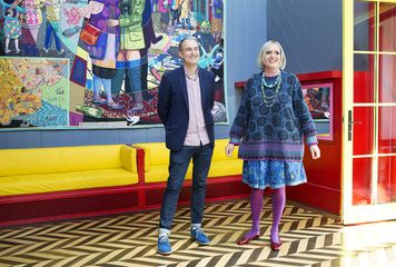 Charles Holland (FAT Architecture) and Grayson Perry. Courtesy Living Architecture Images © Jack Hobhouse