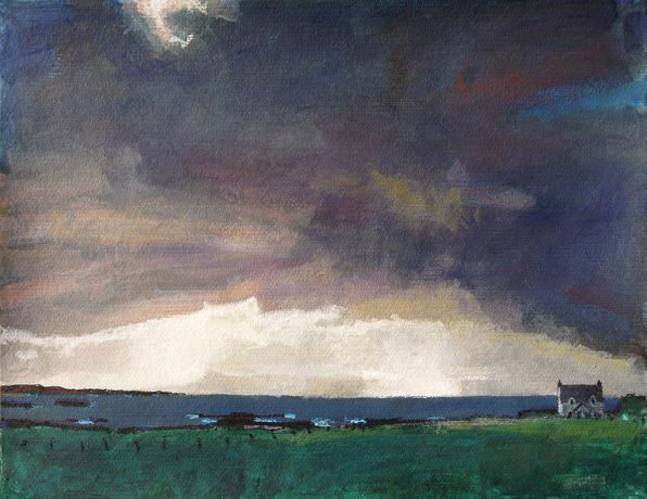 western Light, mixed media, 50 x 65 cm