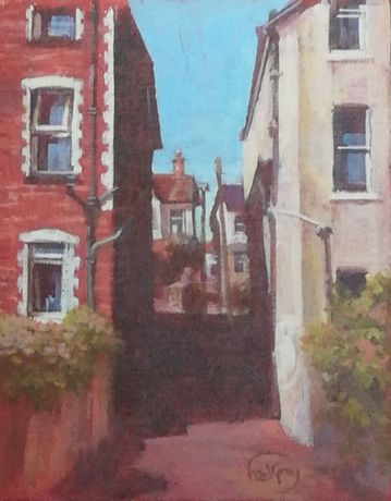 Alleyway to Sherwell Park - Fred Gray