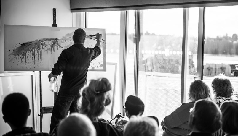 Full programme of live art demonstrations, talks and workshops
