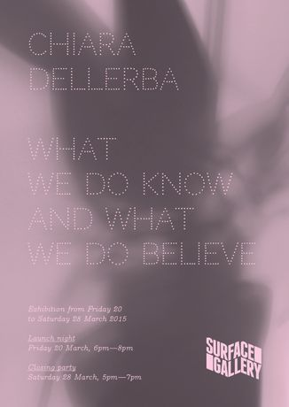 Chiara Dellerba: What Do We Know and What Do We Believe?: Image 0