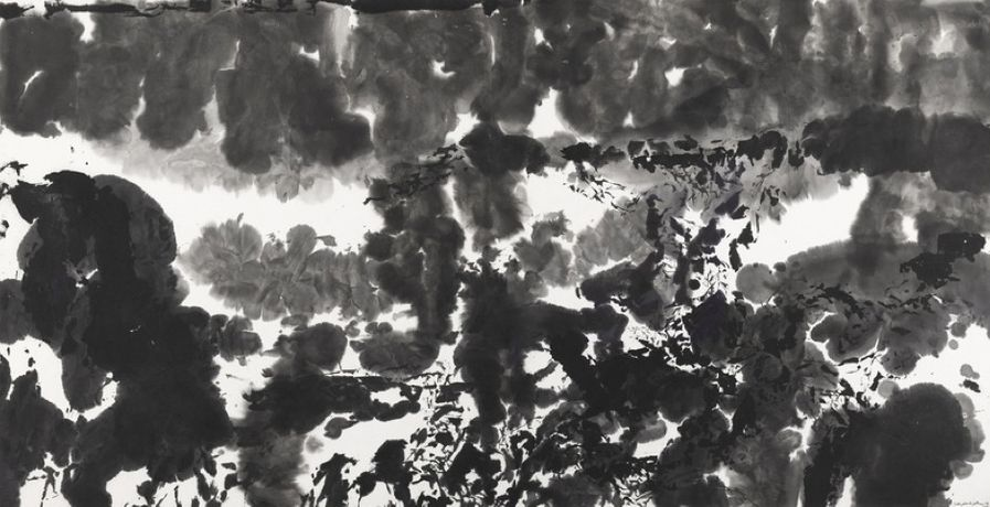 Zao Wou- Ki, Untitled, 1981, Ink on paper, 67.5 x 131.5 cm