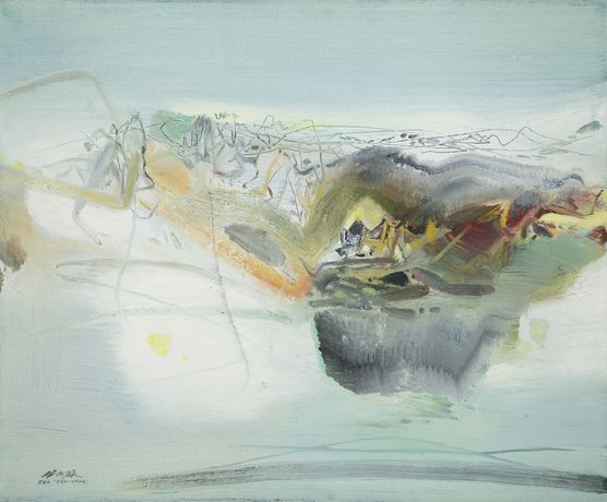 Chu Teh-Chun, 'Winter Vision' 1979, oil on canvas, 54 x 65cm. Copyright, Aktis Gallery