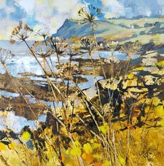 Autumn stalks, towards Prawle Point 51cm x 51cm Acrylic on canvas £1,125.00 Or £11.50 pm with Own Art