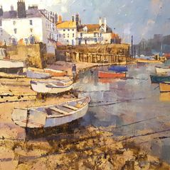 Around the Cove, Bayards 51cm x 51cm Acrylic on canvas £1,125.00 Or £112.50 pm with Own Art