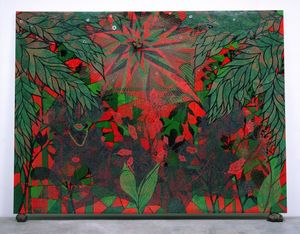 Cover Image -  Chris Ofili, Afronirvana, 2002. Oil, acrylic, polyester resin, aluminum foil, glitter, map pins, and elephant dung on canvas,108 × 144 in (274.3 × 365.7 cm). Courtesy the artist, David Zwirner, New York/London, and Victoria Miro, London