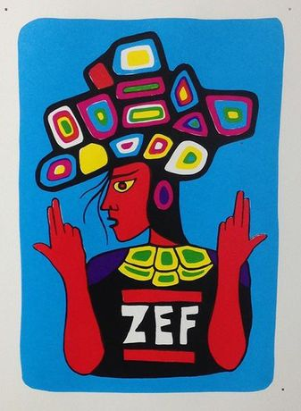 Zef, screenprint on paper