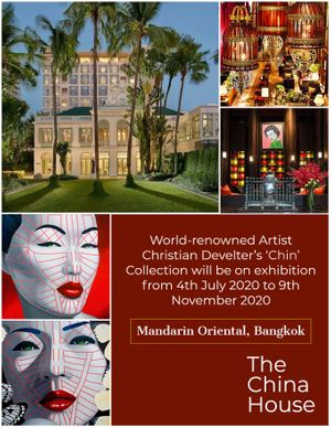 Christian Develter's ongoing exhibition at the Mandarin Oriental Bangkok until November 2020