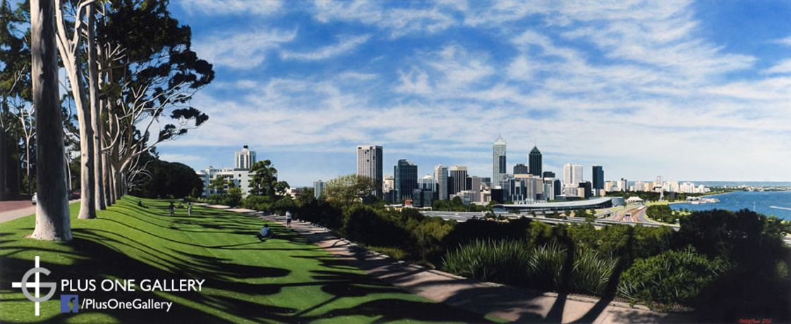 'Kings Park, Perth' Oil on canvas, 70 x 170 cm