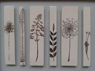Caroline Barnes' Seedhead Collection II in platinum on porcelain
