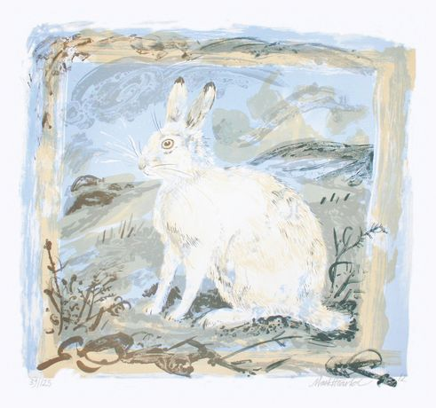 Mark Hearld, Mountain Hare, lithograph, edition of 125, 72 x 76cm
