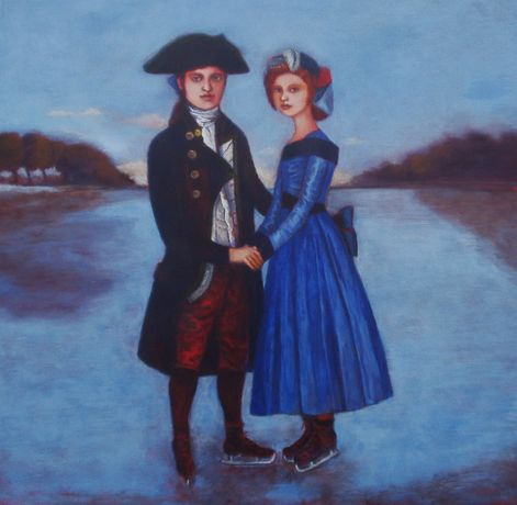 Nicola Slattery - Ice skating couple