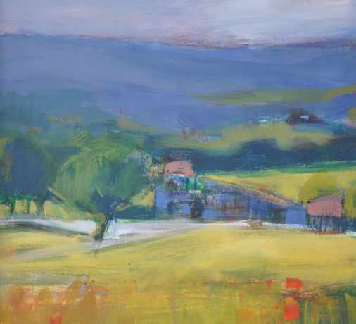 Lucy Powell, Luberon Farmhouse 40 x 50 cm