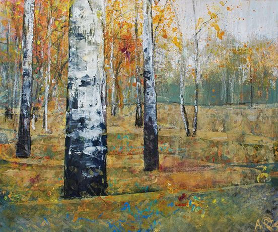 Birch, Mixed Media by Anna Perlin