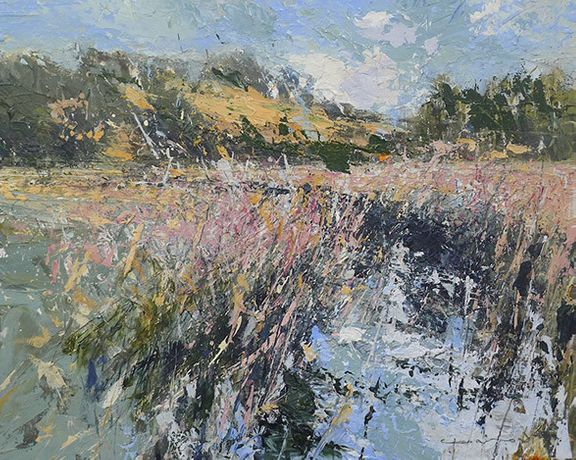 The Glaven at Wiveton, Acrylic on Panel by Chris Prout