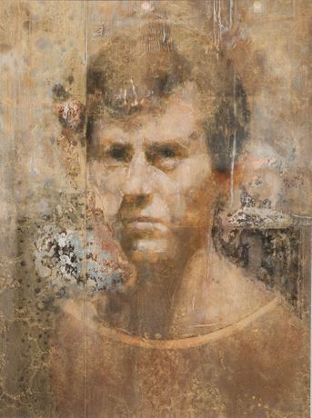 Peter McGrath, Portrait of a Young Man, Oil on board