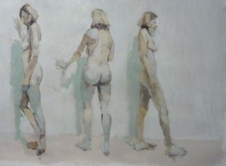 Three Figure Study by Phil Tyler 70 x 90 cm