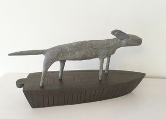 Long Boat Bronze 40 cm long by Christopher Marvell