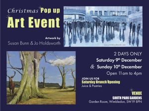 Christmas Pop Up Art Event