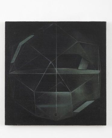Rhombicuboctahedron, 2012, Oil on linen stretched over board, 40 x 40 cm. Photography by Andy Keate, Courtesy, Domobaal