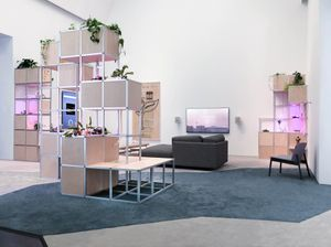 Christopher Kulendran Thomas New Eelam (2018) in collaboration with Annika Kuhlmann. Installation view: I Was Raised on the Internet, Museum of Contemporary Art Chicago. Courtesy the artist