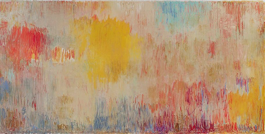 Christopher Le Brun, The Herald's Note (2016), oil on canvas, 220 × 440 cm