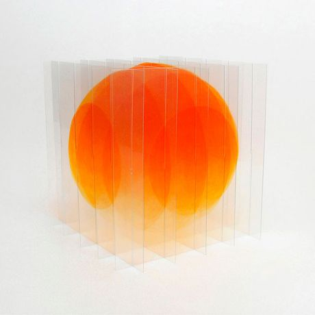 Go Segawa (Japan) Gradient Orange, 2017, Pigmenttinte, Lack, PVC, 14 x 14 x 14 cm