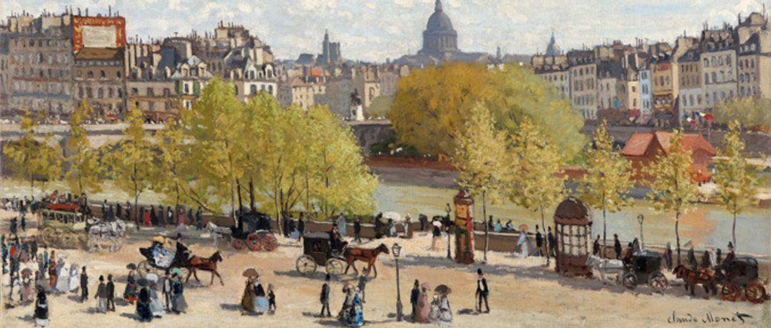 Detail from Claude Monet, 'The Quai du Louvre (Le Quai du Louvre)', 1867.  © Collection Gemeentemuseum Den Haag
