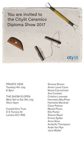 City Lit Ceramics Diploma Show 2017