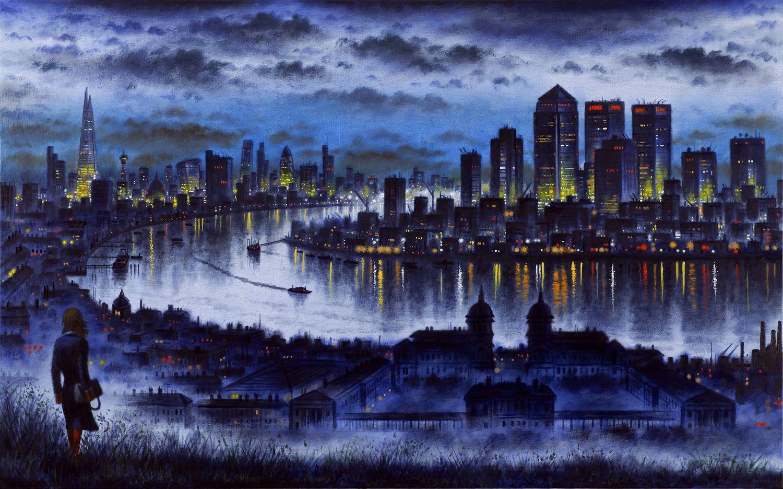 Art Events Calendar London : City noir john duffin s london in paint and print
