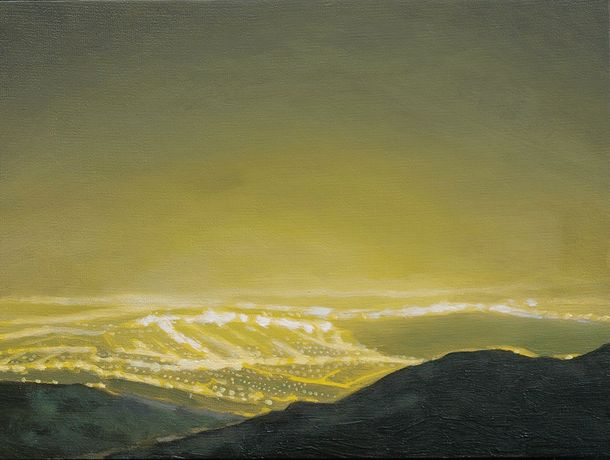 Philip Braham 'Sulphur Skyline' Oil on canvas