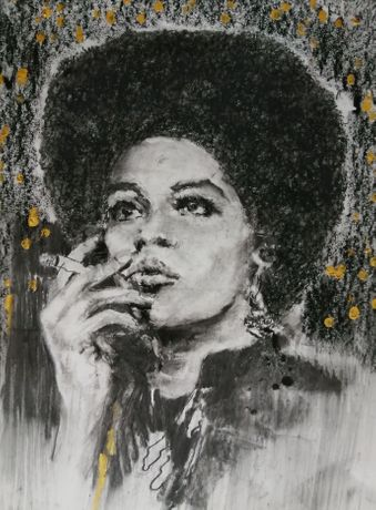 Susan Bryan, Kathleen Cleaver in a moment of contemplation (£150)