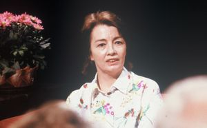 Christine Keeler in a still from TV programme 'After Dark' in 1988